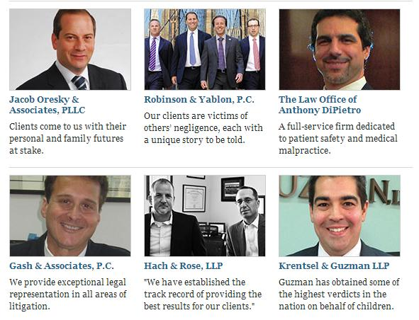 Best Injury Lawyers 2013 in NYC